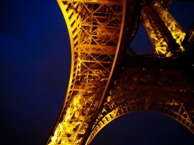 Eiffel Detail at Night