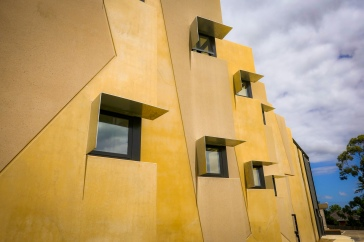 Precast concrete panels and sunshading