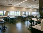 A mix of moveable and fixed furniture in the Science rooms