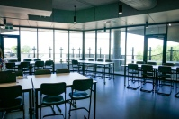 Learning spaces with an adjacent balcony extending the learning opportunities