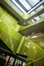 The bright central stair / auditorium