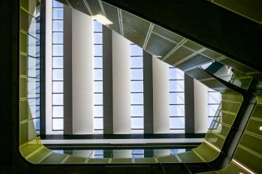Some natural ventilation through the high atrium
