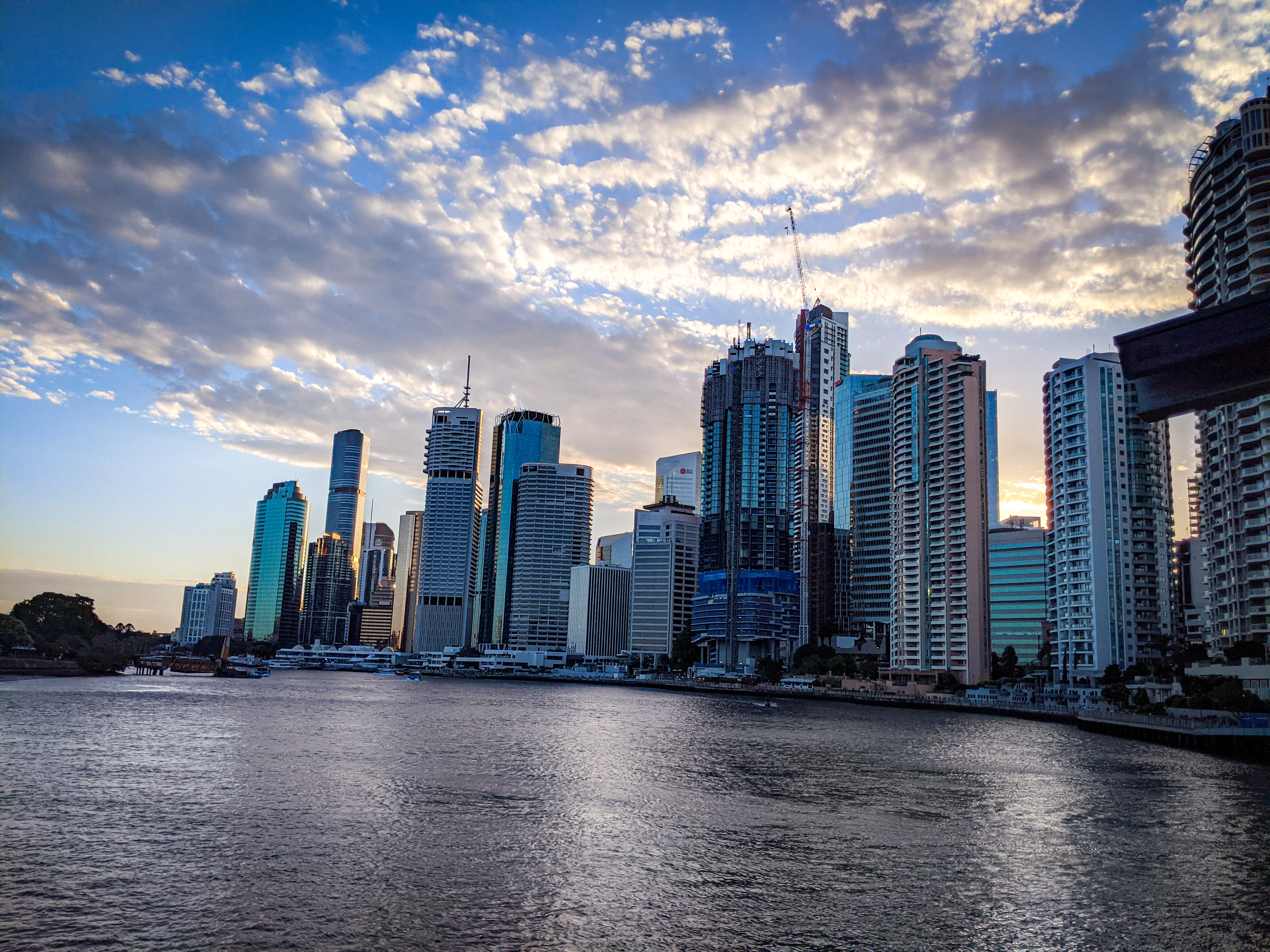 Just another look back at the Brisbane CBD at sunset from Howard Smith Wharves