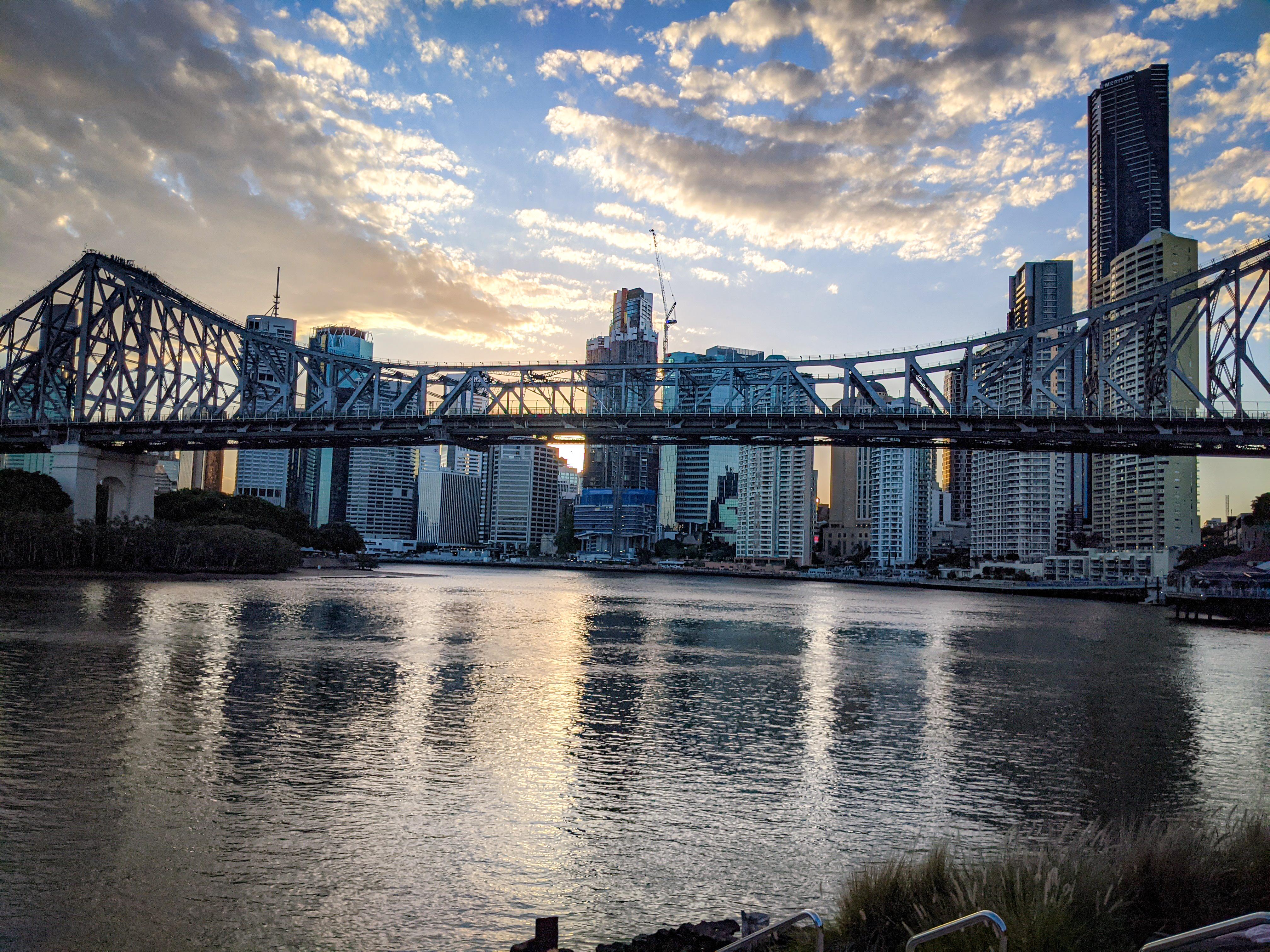 The Storey Bridge with the Brisbane CBD behind